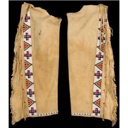 Sioux Beaded Leggings, c. 1920s
