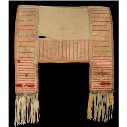 Sioux Quilled Saddle Blanket, 19th century