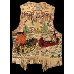 "Wild West Show Vest, 22"" Heavily beaded"