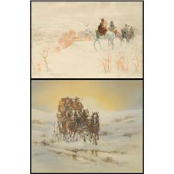 Sandy Ingersoll and Howard Rees, 2 Watercolors