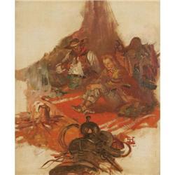Benton Henderson Clark, Oil on Canvas
