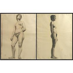Walter Ufer, Two Graphite Drawings
