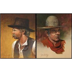 Jim Daly, Pair of Oils on Canvas
