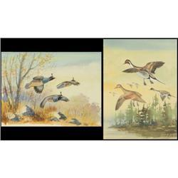 Ron Jenkins, Two Watercolors