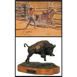 Bill Shaddix and Ernie Kraft, Acrylic & Bronze