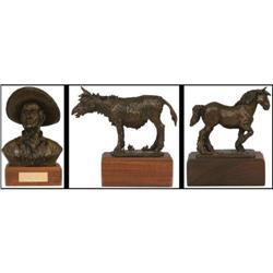 Paul Crites, 3 Bronze Sculptures