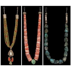 Three Pueblo Indian Made Necklaces