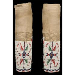 Sioux Beaded Womans Leggings, c. 1910