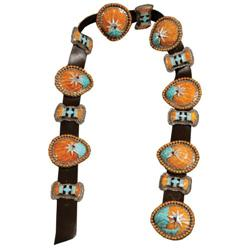 Concho Belt, Shell and Overlaid Design