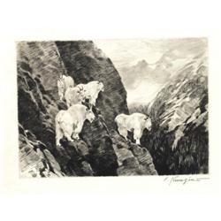 289: Carl Rungius, Etching