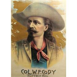 297: Col. W.F. Cody Buffalo Bill Lithograph