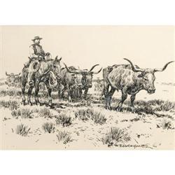 310: Nick Eggenhofer, Pen and Ink Drawing
