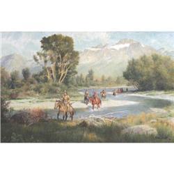 324: John Scott, Oil on Board