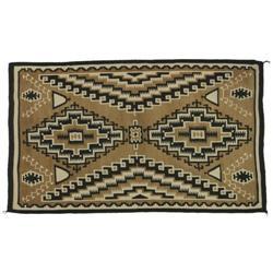 337: Navajo Weaving, Two Grey Hills, c. 1940s