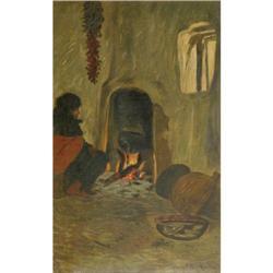 343: Warren E. Rollins, Oil on Canvas