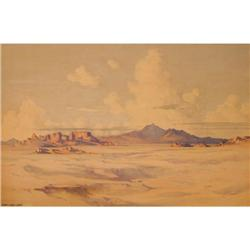 348: George Elbert Burr, Watercolor