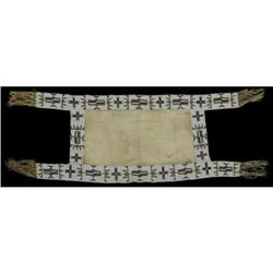 358: Sioux Beaded Saddle Blanket, c. 1890s