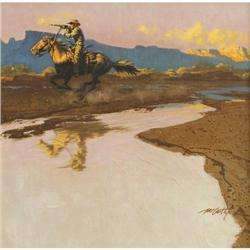 366: Frank McCarthy, Oil on Board