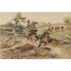 372: John Wade Hampton, Watercolor
