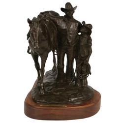 376: Melvin C. Warren, Bronze Sculpture
