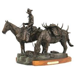 377: Fred Fellows, Bronze Sculpture