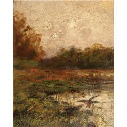 386: John Fery, Oil on Canvas on Board