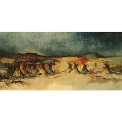 388: Paul Dyck, Oil on Board