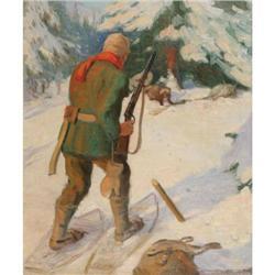 400: John Newton Howitt, Oil on Canvas