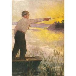 412: R. Farrington Elwell, Oil on Canvas