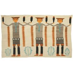 416: Navajo Weaving, Toadlena/Two Grey Hills