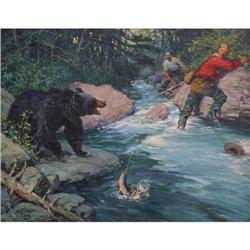 420: Frank Hoffman, Oil on Canvas