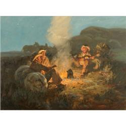 440b: Joe Beeler, Oil on Canvas
