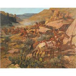 441: Nick Eggenhofer, Oil on Canvas