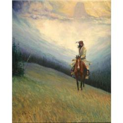 448: Hart M. Schultz, Lone Wolf, Oil on Canvas