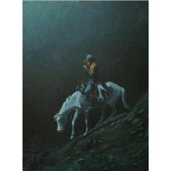450: Hart M. Schultz, Lone Wolf, Oil on Canvas