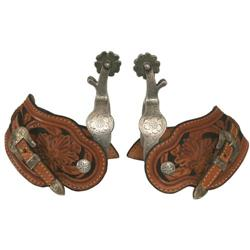 452: Crockett Silver Mounted Parade Spurs