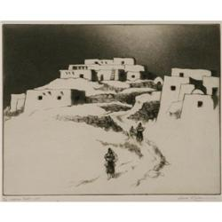 525: Gene Kloss, Etching, Drypoint, Aquatint