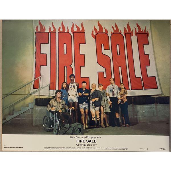 Fire Sale original 1977 vintage lobby card