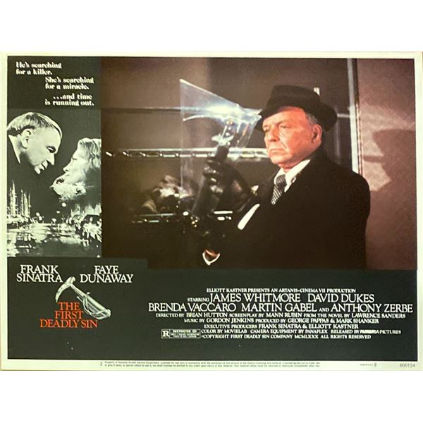 The First Deadly Sin original 1980 vintage lobby card