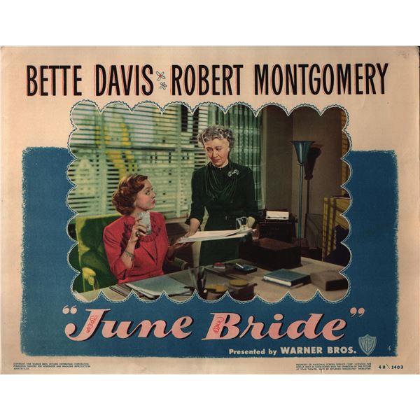 June Bride original 1948 vintage lobby card