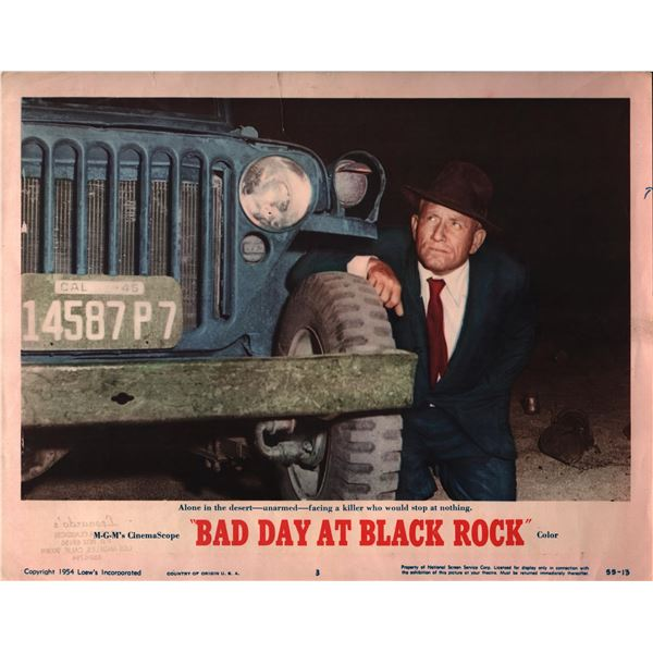 Bad Day at Black Rock original 1954 vintage lobby card