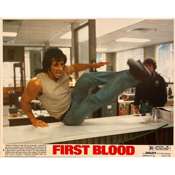 First Blood original 1982 vintage lobby card