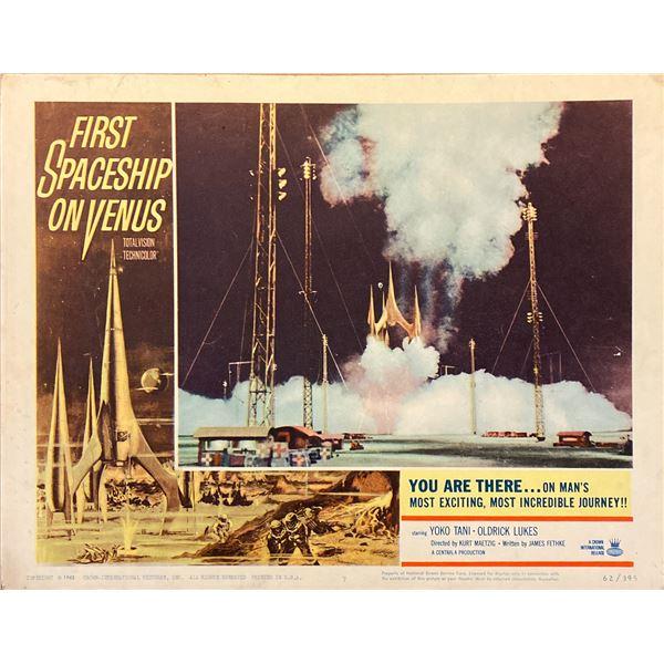 First Spaceship on Venus (The Silent Star) original 1962 vintage lobby card