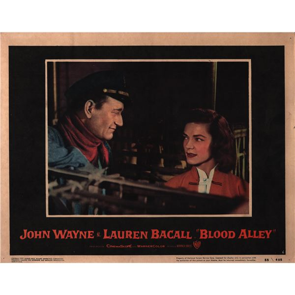 Blood Alley original 1955 vintage lobby card