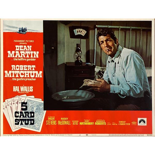 5 Card Stud original 1968 vintage lobby card