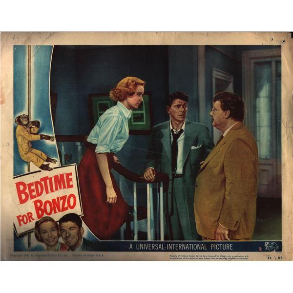 Bedtime for Bonzo original 1951 vintage lobby card