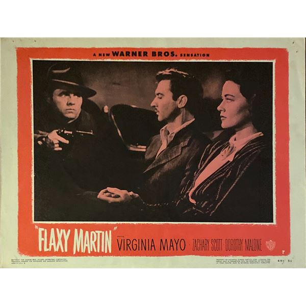 Flaxy Martin original 1949 vintage lobby card