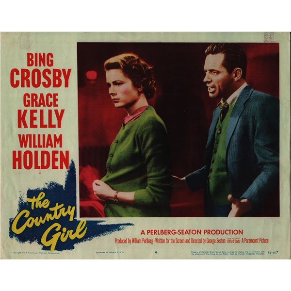 The Country Girl original 1954 vintage lobby card