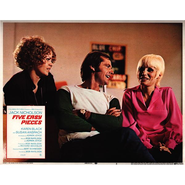Five Easy Pieces original 1970 vintage lobby card