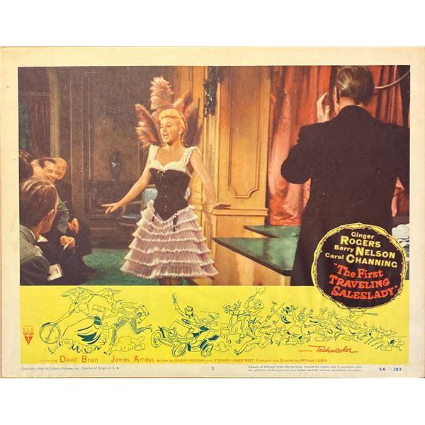 The First Traveling Saleslady original 1956 vintage lobby card